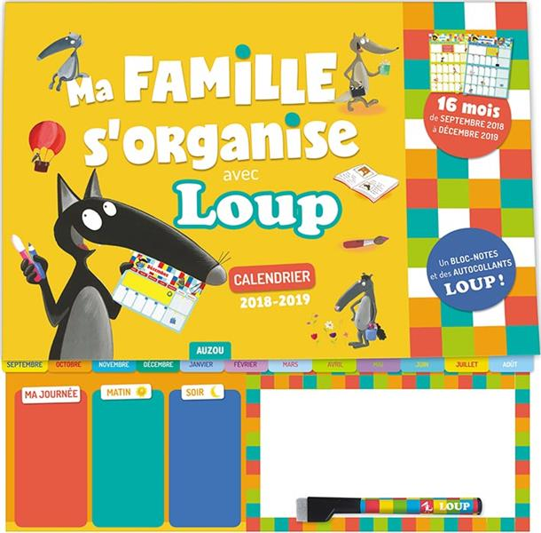 MA FAMILLE S'ORGANISE AVEC LOUP - CALENDRIER 2018-2019
